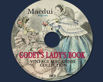 Godey's Lady's Book Vintage Magazines Collection 16 PDF E-Books on 1 DVD Needlework