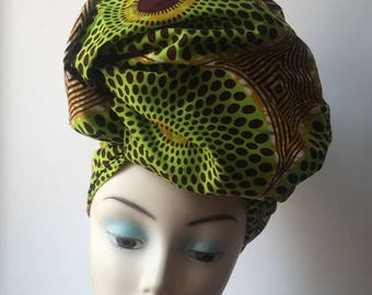 African print Ankara headwrap , scarf, African Headtie, African Clothing, Women's Accessories, Women's Clothing