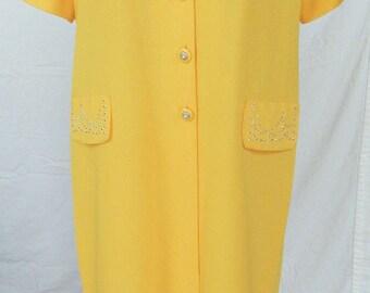 Beaded Yellow 2-Piece Skirt Suit - Sz Medium Career