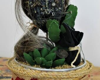 Shrunken Head in a Glass Dome