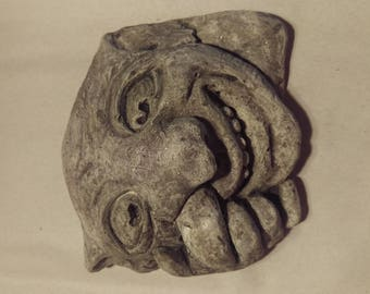 Classic Grotesque Wall Hanging reproduction from Oxford University in Lightweight cement