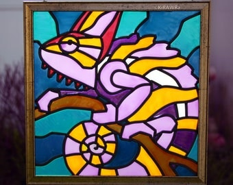 Chameleon Faux Stained Glass