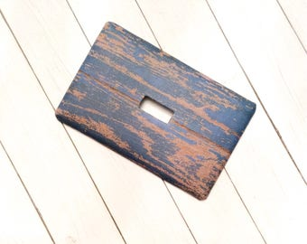 Faux Wood Rustic Light Switch Cover ~ Switch Plate Covers ~ Farmhouse Light ~ Modern Farmhouse