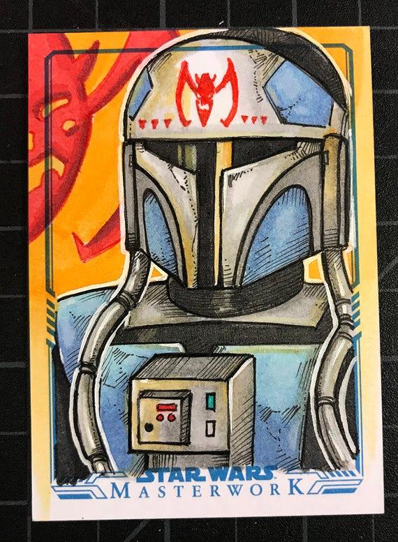 Star Wars Masterwork Original Artist Sketch Card: Fenn Rau