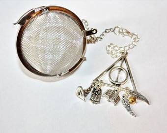 Harry Potter Inspired Tea Infuser With Removable Charm - Tea gift - Magic - Fantasy - Literature Tea Infuser - Tea Accessories