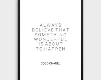 Coco Chanel Zitate | Coco Chanel Dekor Mode Druck Fashion Wand Kunst Mode