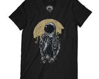 Fathers day shirt space man tshirt hipster t-shirt rave t-shirt astronaut t-shirt urban tshirt grunge tshirt husband gift  AP56