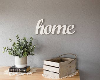 Home Sign - Rustic Home Decor - Farmhouse Decor - Wood Signs - Rustic Wood Sign - Farmhouse Kitchen - Wall Decor - Wall Art - Home - Sign