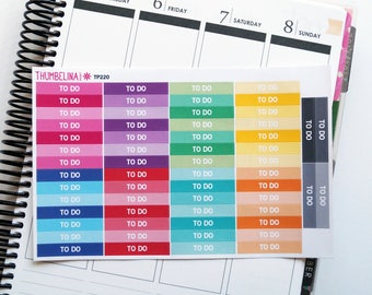 To Do Header Planner Stickers for Erin Condren, Happy Planner and more (TP220)