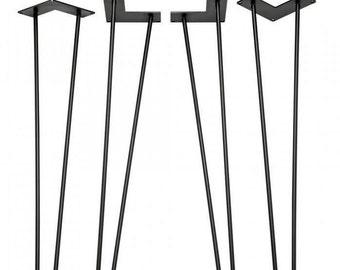 Hairpin Legs (Set of 4), Modern Steel Legs, Table Legs for Desk