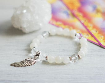 Archangel Haniel - Celestial Bracelet - Healing Bracelet - Moonstone Bracelet - Gemstone Bracelet - Spiritual Bracelet - Angel Jewelry