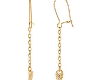 Leaf Chain Earring