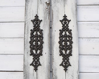 Rustic Wall Decor, Shabby Chic Decor, Whitewashed Wood With Deep  Brown/black Cast Part 82