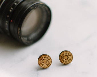 FOCUS earrings - for photography analog film lovers
