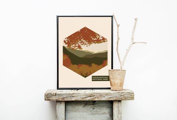 Shenandoah National Park Poster Travelrhetsy: Shenandoah National Parks Home Decor At Home Improvement Advice