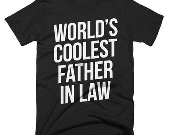 Worlds Coolest Father In Law T-Shirt, Funny, Best Father In Law T-Shirt, Birthday Gift, Present For Father In Law