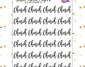 Church Planner Stickers | Word Art Planner Stickers | Lettering Stickers | Bullet Journal Stickers | Fits Most Planners | 371