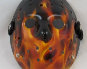 Friday the 13th Hell Fire Hockey Mask