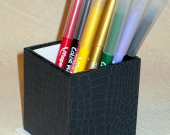 LARGE black and white pencil holder