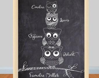 Print/Print Family owls