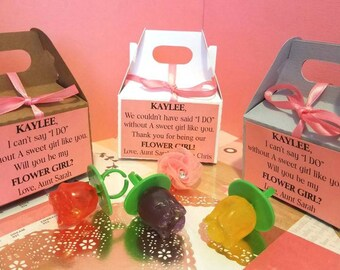 Flower Girl Proposal Box With Ring Pop, Flower Girl Invitation, Petal Patrol, Will You Be My Flower Girl, Flower Girl Gift, Thank You Gift