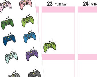 Video Game Controller Planner Stickers, Video Game Stickers, Gamer Stickers, Gaming Stickers