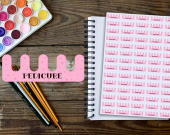 Pedicure Planner Stickers in Baby Pink