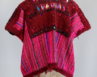 Hand Embroidered Mexican Vintage Huipil