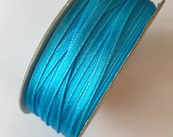 3mm Teal Double Faced Satin Ribbon