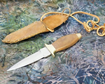 Vintage Dagger/Neck Knife/Muzzle Loading Knife/Pakistan/Dagger With Sheath/Small Dagger/Knife With Pouch/Woodland/Hunting Knife/Dagger