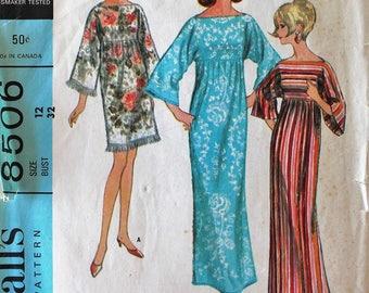 1960s Kaftan Pattern - Vintage Simplicity 8506 Sewing Pattern - Bust 32