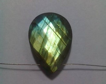 Labradorite Pear Shape Faceted Drilled Briolette
