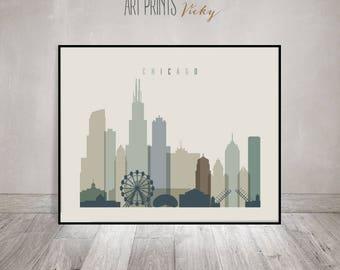 Merveilleux Chicago Wall Art, Chicago Poster, Chicago Skyline Print, Illinois, City  Prints,