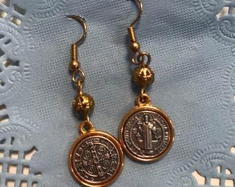 St. Benedict Dangle Earrings