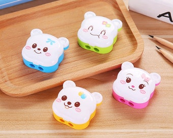 Cute Animal Bear Sharpeners / Kawaii Pencil Sharpeners / Cute Pencil Sharpeners / Cute Stationery / Kawaii Stationery / Cute School Supplies