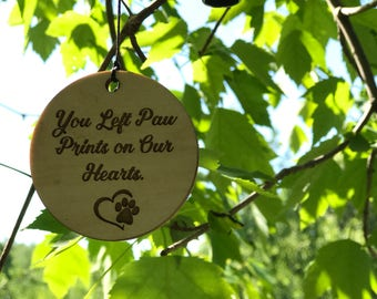 Wind Chime Best Gift After Pet Loss Memorial wind chime Gift Loss Garden Missing Mans Best Friend gift after loss You left paw prints on our
