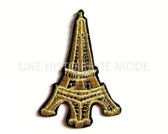 Patch Thermo Eiffel Tower / Paris to sew or iron 70 x 49 mm.
