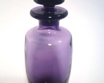 Canister, flower, vase, food jar from 1890's-early 1900's, dug bottle, Purple Amethyst, Collectible Antique
