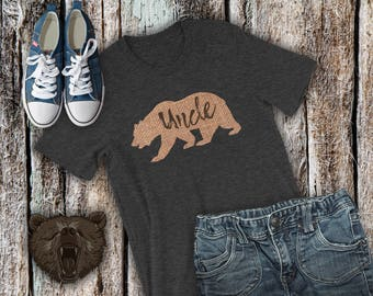 Burlap shirt etsy burlap uncle bear shirt bear family matching shirts uncle bear matching tshirt set publicscrutiny Image collections