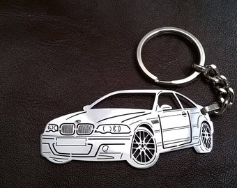 bmw keychain, bmw m3, BMW e46 m3 keychain, BMW E46 Personalized Key Chain, BMW e46 m3, Custom Keychain, Keyring bmw e46 m3, birthday gift