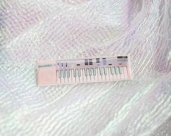 Casio SK-1 Sampling Keyboard Pin - Handmade - Pastel - Rare Version - SK1 - SK 1