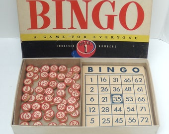 Bingo Boxed Game Set No. 1, Vintage Bingo Game