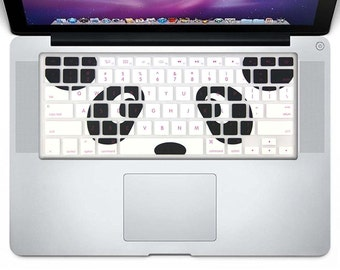Unique Keyboard Cover Silicone Skin for MacBook Pro 13, 15, 17-Inch (with or w/out Retina Display) iMac and MacBook Air 13-Inch (Panda)