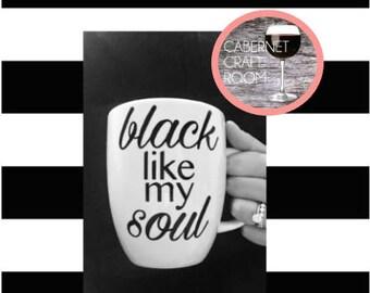 Black like my Soul mug