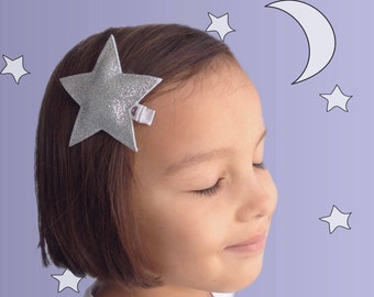 Star Hair Clip - Glitter Star Hair Accessory - Geometric Hair Clip - Hair Clip for Girls - Hairclip for Women - Party Headband - Small Gift