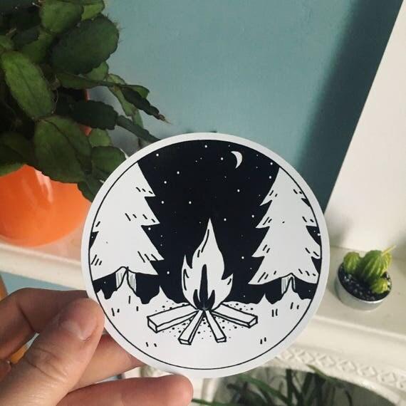 Campfire Vinyl Sticker