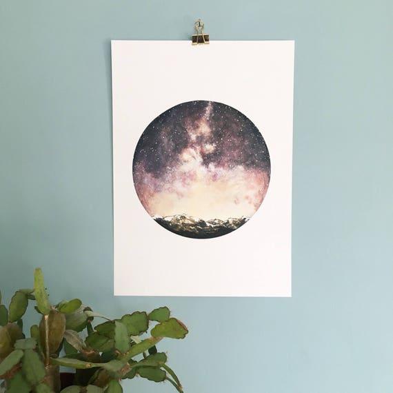 Meteor Shower Print