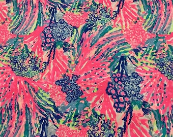 RAINBOW SOLEIL RESORT  2017 18x18 or 18x9  inches Lilly Fabric Pulitzer Out