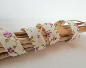 1m de biais tissu liberty - 4 coloris - 12 mm - coton