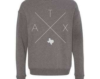 Austin Sweatshirt - ATX Home Sweater, Texas Off Shoulder Sweatshirt